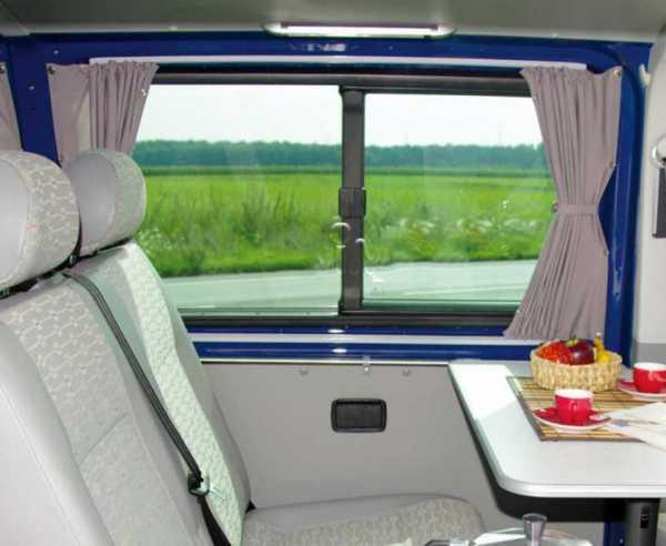 VW T6/5 KR Vorhang Set grau lichtdurchlässig