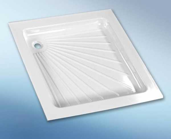 Kunststoff-Duschwanne weiß, 665x655x80 mm