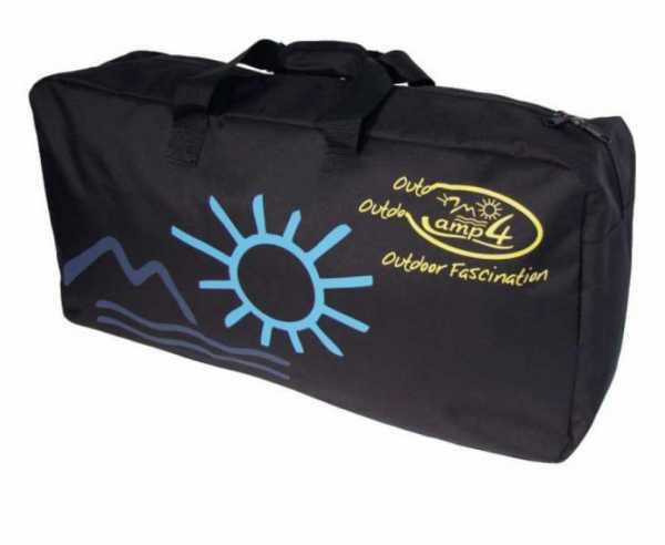 Universal Packtasche, Schwarz, 65x33x15cm