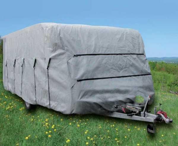 Wohnwagen Schutzhülle 700x230x220cm grau