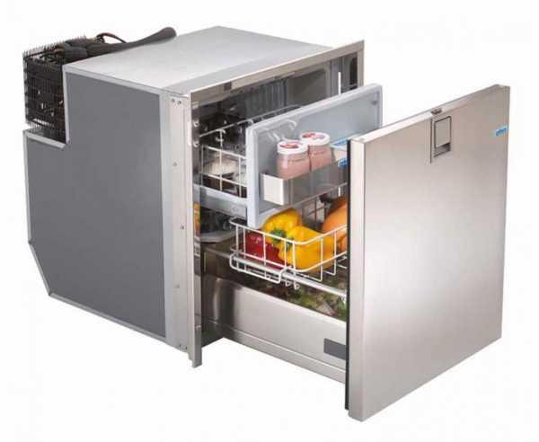 Webasto Isotherm DR 65 Inox 12/24V Edelstahl, 65 Liter Kompressor Kühlschublade